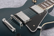 standard Les dark Metallic blue LP electric guitar,Chrome hardware,Standard LP guitar with EMS Free shipping(China)