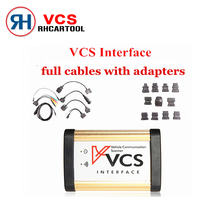 Car Styling VCS Vehicle Communication Scanner Interface Full cables adapters VCS OBD2 Car Diagnostic SCANNER Tool VCS Interface