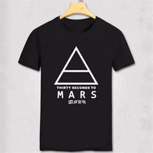 30 SECONDS TO MARS T-Shirt Men's Short-sleeve Printed Logo Original Tshirt Custom fashion music t shirt indie rock and roll band(China)