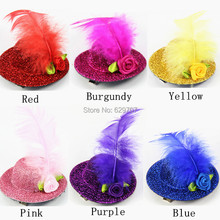 Wholesale Personalized Glitzy Pet Hat Hair Clip Party Show Cute Dog Hat Grooming Mixed 6 Colors