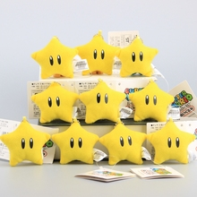 "Super Mario Cute Mini Stars Plush Keychain Soft Dolls Small Pendant Kids Gift 10 Pcs/Lot 2"" 5 CM"