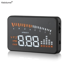 kebidumei Hot Sale X5 GPS HUD Head Up Display Auto Car Styling Speed Alarm OBD II OBD2 Car Windshield Projector Universal(China)