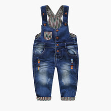 spring autumn children's overall infant denim bib pants baby boy girl jeans pants casual kids trousers 6M-3T DQ534