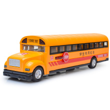 1:32 Alloy School Bus Car Model Sound/Light Diecast Car Vehicle Toy Yellow