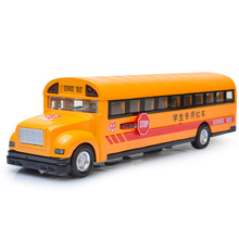 1:32 Alloy School Bus Car Model Sound/Light Diecast Car Vehicle Toy Yellow(China)