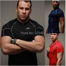 2016  New Genuine Men Series Compression Performance Fitness  Perspiration wicking Zip  sleeve tights