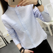 Buy Women Blouses Shirt Female Cotton Linen 2017 New Spring Autumn Stripe Long Sleeve Shirts Women Tops Ladies Clothing S-XL for $9.51 in AliExpress store