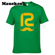 Men T-shirt Big Beard 12 Aaron Rodgers Logo Green Bay Tees Short Sleeve T SHIRT Packers Men's S-XXXL W1030017(China)