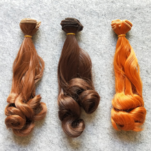1PCS/LOT Retail New Arrival BJD Accessories Culry Doll Hair 15CM DIY Synthetic Hair For Doll Wigs(China)