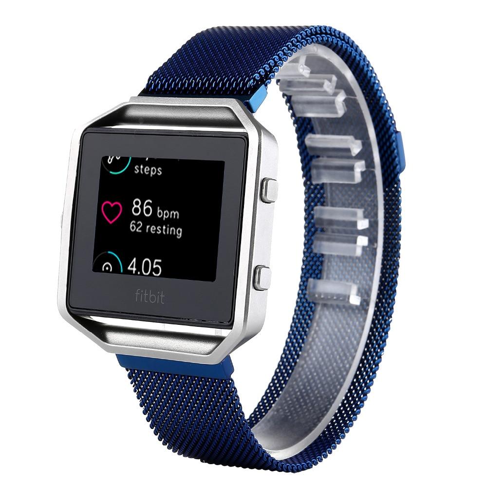 Milanese Loop Stainless Steel Watchbands For Fitbit Blaze Smart Fitness Tracker Watch Strap 23mm Link Bracelet<br><br>Aliexpress