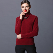 The new lady's cashmere turtleneck turtleneck sweater is warm and comfortable short sweater girl's style elegant fashion show th(China)