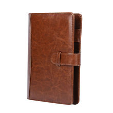 ONLVAN PU Leather Notebook Brown Color Office Supply File Cover New Design Business Calendar Agenda Accept OEM Planner 2018(China)