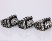 US Size 7 to 15! 3pcs/set 1976 1980 1983 Oakland Raiders Super Bowl world championship rings replica solid ring drop shipping(China)