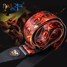 Rock You Soft & Comfortable Red Fire Chain Bass Guitar Straps (made of POLYESTER)(China)