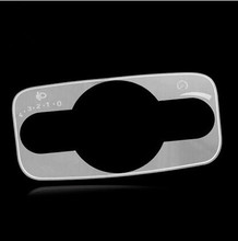 Stainless Steel Car headlight switch decoration paillette headlight conversion switch trim For Ford Ecosport Fiesta