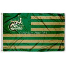 Charlotte 49ers Stripes Nation American Outdoor Indoor Hockey Baseball College Flag 3X5 Custom USA Any Team Flag(China)