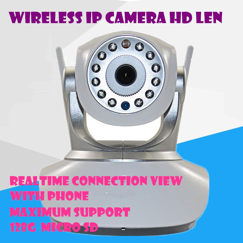 Wireless IP Camera Wifi  720P HD CCTV Audio Mega P2P Alarm Baby monitor  FREE APP Network IR-CUT Night Vision Record PT mini dog<br><br>Aliexpress