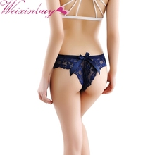 Buy Sexy Underwear Women G-string Sexy String Lingerie Lace Thong Seamless Briefs Transparent Panties Knickers Black Tangas W1