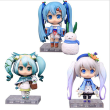 "10CM Anime Cute Nendoroid 4"" Hatsune Miku Sakura PVC Action Figure Model Toy Doll with box Y6199(China)"