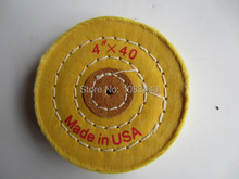 4'' 100mm Sawing Cloth Polishing Wheel for Various Glazing Machine to Buffing Metals & Grinding Crystal 40 Floors Covers
