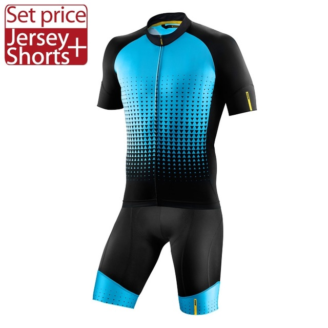 Mavic 2017 Cycling Jersey Summer Team Short Sleeves Cycling Set Bike Clothing Ropa Ciclismo Cycling Clothing Sports Shorts New<br>