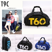 Brand New Men Sports Bag Gym Women Fitness Waterproof Outdoor Separate Space For Shoes pouch rucksack Hide Backpack sac de T60