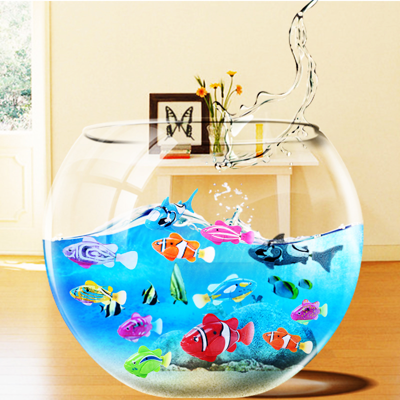 Big Sale Robofish Activated Battery Powered Robo Fish Toy Fish Robotic Fish Tank Aquarium Ornaments Decorations(China)