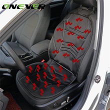 Onever 1PC Car Heated Seat Cushion Heating Pad Cover Hot Warmer HI/LO Mode for Cold Weather and Winter Seat Covers & Supports(China)