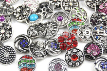 Hot wholesale 50pcs/lot High quality Mix Many styles 18mm Metal Snap Button Charm Rhinestone Ibryant Ginger button Snaps Jewelry