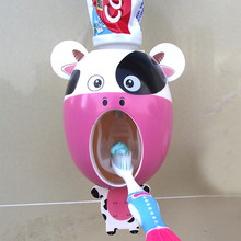 Creative Cartoon Automatic Toothpaste Dispenser Wall Mount Stand Bathroom Sets Drop Shipping(China)