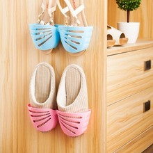 Can hung three-dimensional butterfly shoe rack After the door paste easy receive rack 25*8*9.3cm