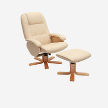 Modern Leisure TV Recliner Chair Lounger Armchair Swivel Seat With Ottoman Footstool Living Room Furniture Reclining Arm Chair