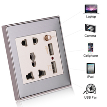 Best 2.1A Dual USB Wall Socket Charger AC/DC Power Adapter Plug Outlet Panel w/Switch