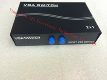 VGA video distributor one point two one with two split screen computer VGA Switcher sharing vga switch Free Shipping
