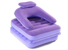 175*75*18cm in size Flocking inflatable lazy sofa bed folding nap dual-use recliner single sofa purple pink