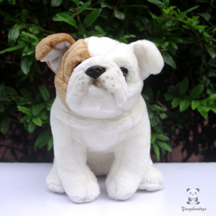 Big Stuffed Animals  Plush Toy Bulldog  Doll  ChildrenS Toys Simulation dogs Gifts<br>