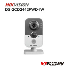 Hik DS-2CD2442FWD-IW 4MP POE Wifi IP Camera with Buit-in Micro SD card slot PIR Cube Security CCTV Camera(China)