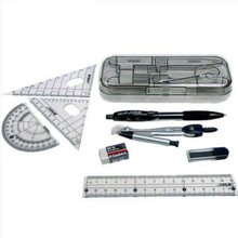 Free shipping bow compass school exam special/drawing set tape/ruler/triangle/seven or eight times school tools bussola/ T001