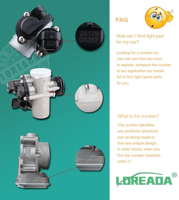 LOREADA Throttle Body Assembly for PEUGEOT 206 1 0 16v 2000 OEM SMR0010  H8200067219 714046839974 8200065648 8200166870 42mm