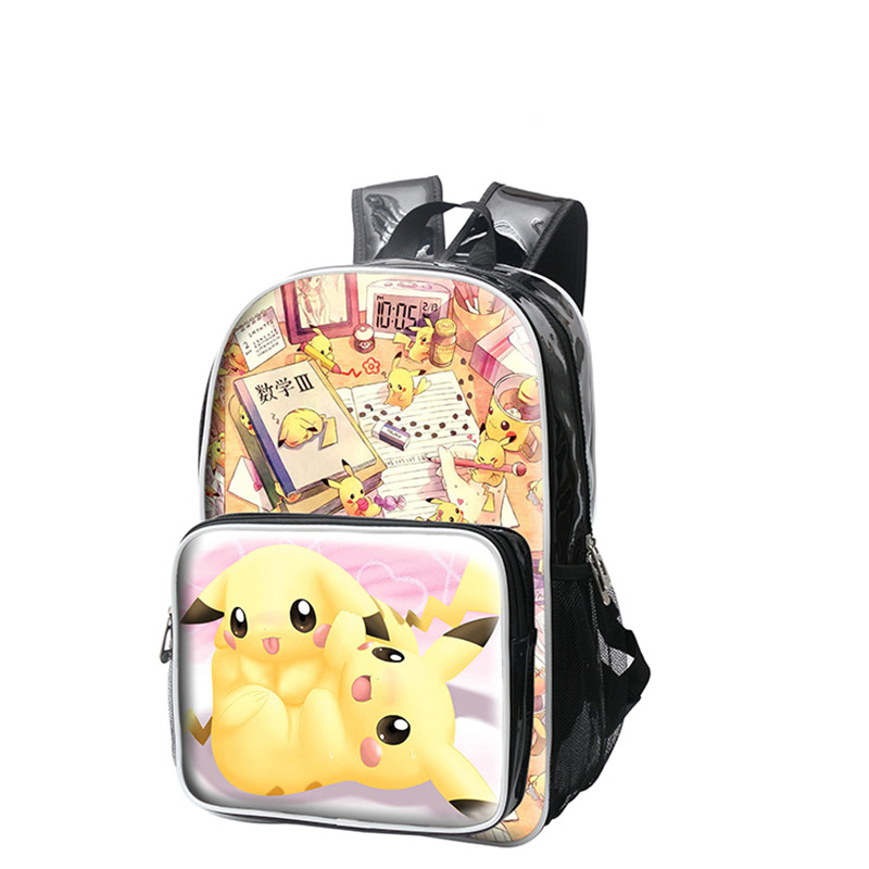 High Quality Anime Pokemon Pikachu Backpacks 3D Print Shoulder Bags Cartoon PU Schoolbags Travel Mochila<br><br>Aliexpress