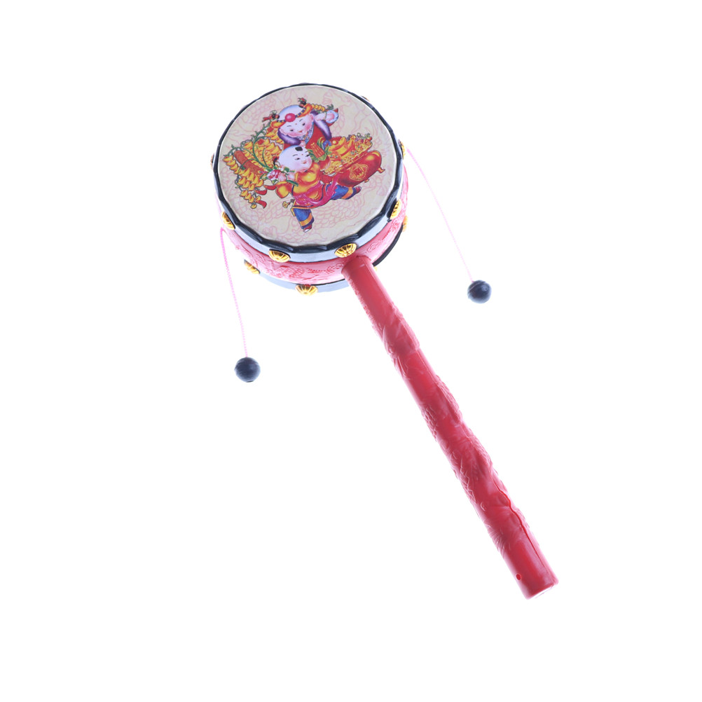 Baby Rattles & Mobiles Baby & Toddler Toys One Piece Plastic Rattle Pellet Drum Cartoon Musical Instrument Toy For Child Kids Gift Chinese Style