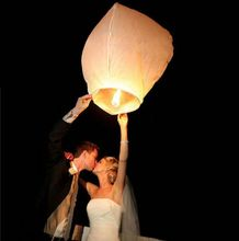 20pcs White Color High Quality Chinese Lantern Fire Sky Fly Candle Lamp Birthday Wedding Party lantern Wishing kongming balloons(China)