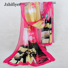 women fashion pretty long soft chiffon scarf double face chiffon silk scarf cheap scarfs shawls sarong pareo