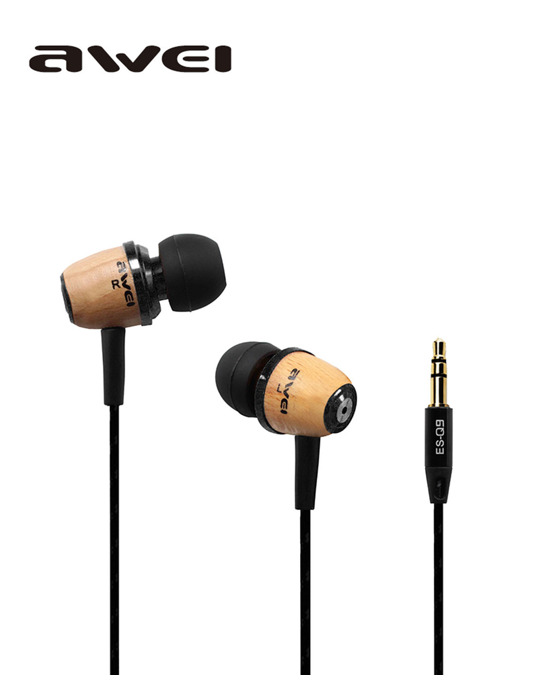AB19310 Q9 Wooden Universal in-Ear Earphones Headset Super Bass 3.5mm Jack Headphone for MP3/MP4/Smart Phone<br><br>Aliexpress