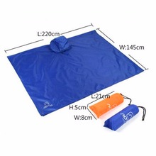 LumiParty Outdoor Multifunctional 3in1 Travel Rain Poncho Backpack Rain Cover Waterproof Tent Awning for Climbing Camping Hiking(China)