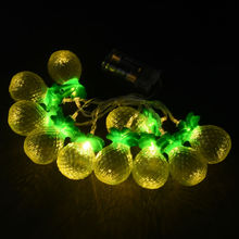 New Battery Operated LED String Lights 10Led/set Yellow Fruit Pineapple Shape LED Fairy Lights For Party Festival Decoration