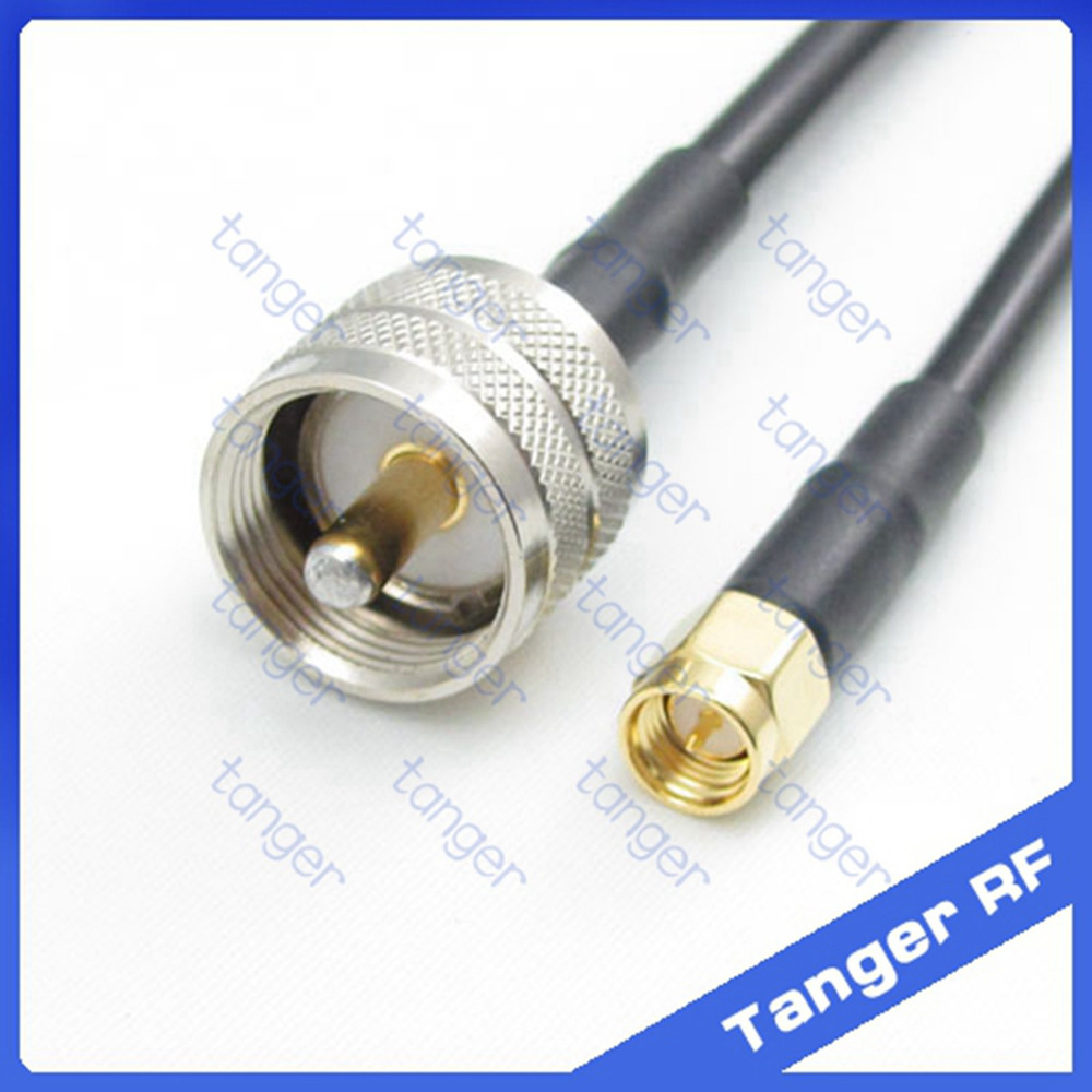 Hot selling Tanger UHF male plug PL259 SL16 to SMA male plug RF RG58 Pigtail Jumper Coaxial Cable 20inch 50cm High Quality<br><br>Aliexpress
