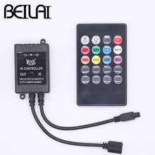 BEILAI LED RGB Music Controller DC 12-24V 3 Channels 6A 20Key Sound Sensor IR Remote Controller For 5050 2835 RGB LED Strip(China)