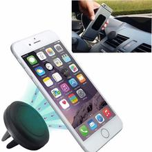 Car Phone Holder Magnetic Air Vent Mount Mobile Smartphone Stand Magnet Support Cell Cellphone Telephone Desk Tablet GPS(China)