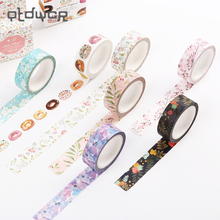 2PCS Original Dream Watercolor Painting Washi Tape Adhesive Craft Tape DIY Scrapbooking Sticker Masking Craft Tape 7m